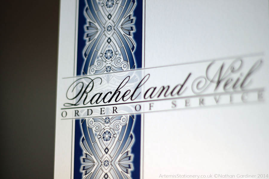 Rachel and Neil wedding stationery