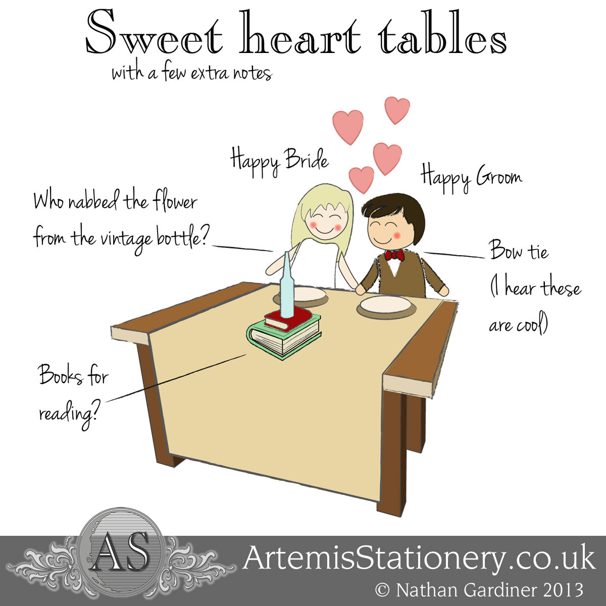 The good side of sweet heart tables