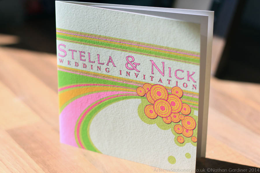 Stella and Nick wedding stationery