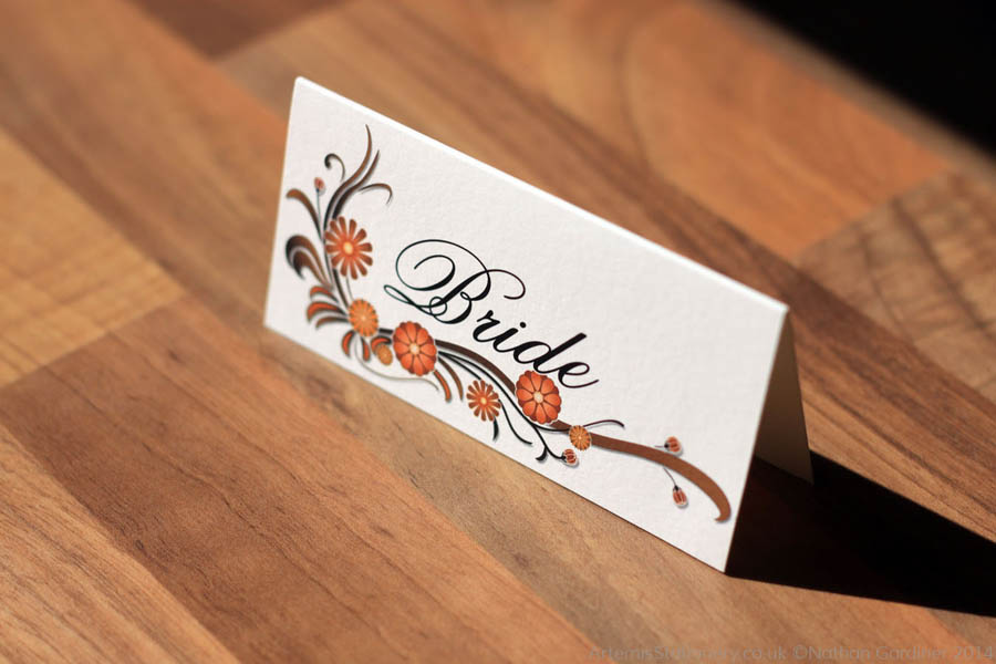 Annika and Neil wedding stationery