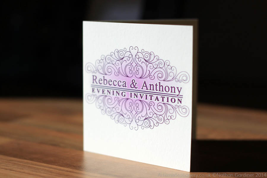 Rebecca and Anthony wedding stationery
