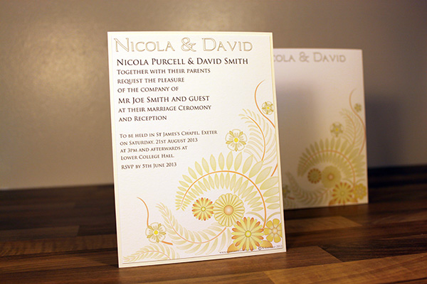 Stylish and modern floral bespoke wedding stationery and invitation range featuring Swarovski crystals