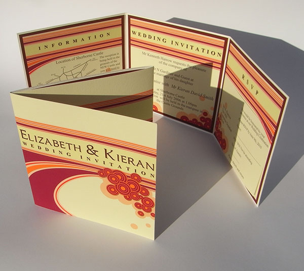 Fun and funky modern bespoke range of wedding stationery and invitations, great for fun and festive occasions of any style.