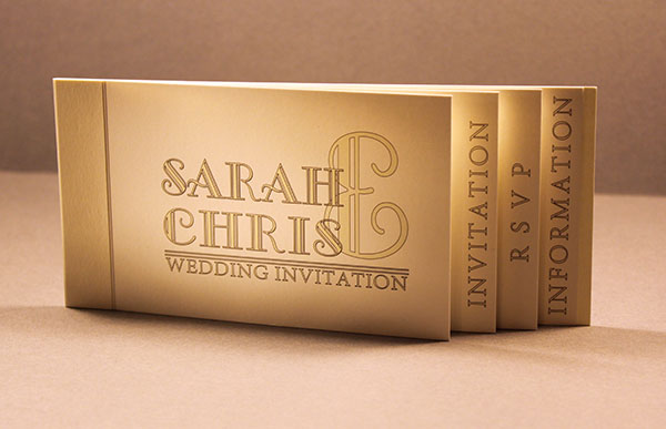 Bespoke wedding invitation and stationery range which puts the Bride and Groom first, looks great in a wide range of fonts and styles