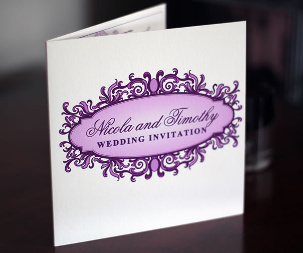 Baroque inspired bespoke wedding invitations and stationery design