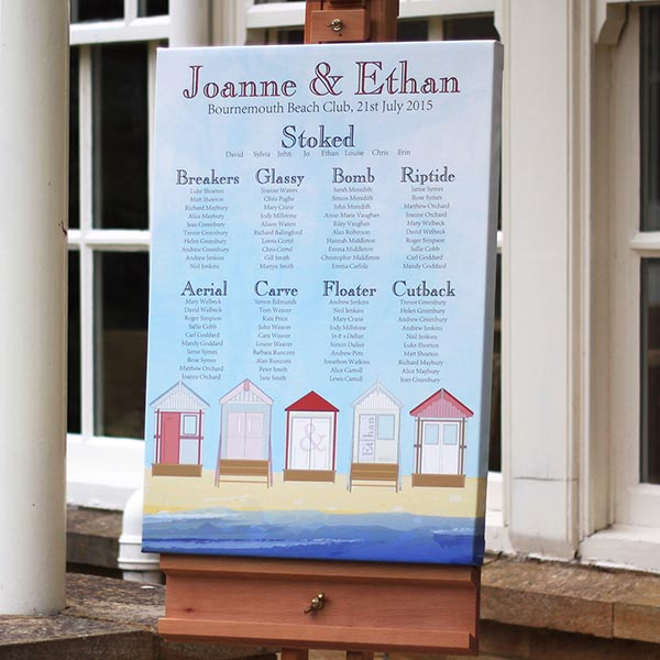 Beach Hut bespoke wedding stationery collection perfect for anyone getting married near the coast or beach
