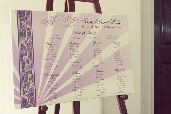 Canvas table plans are a beautiful way of showing your wedding guests where their tables are and make great keep sakes for after the wedding