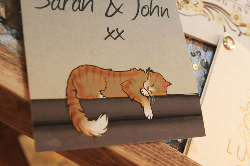 Pet illustrations on your wedding invitations and stationery