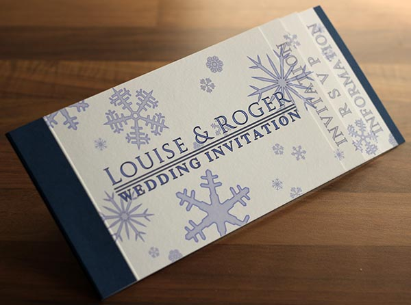 Ideas for bespoke Winter and Christmas wedding invitations and stationery